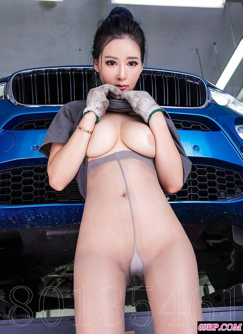 宝马修理厂拍摄妖娆女员工肉丝人体秀